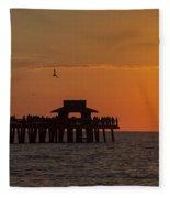 Naples Sunset Fleece Blanket