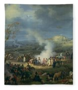 Napoleon 1769-1821 Visiting A Bivouac On The Eve Of The Battle Of Austerlitz, 1st December 1805 Fleece Blanket