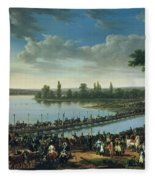 Napoleon Before The Battle Of Wagram, 6th July 1809 Fleece Blanket