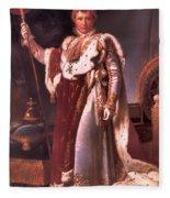 Napoleon In His Coronation Robes  Fleece Blanket