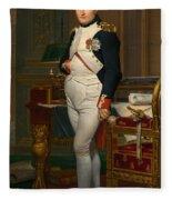 Emperor Napoleon In His Study At The Tuileries Fleece Blanket