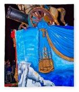 Napoleon Rides  Fleece Blanket