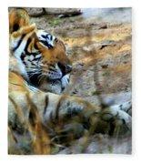 Naptime For A Bengal Tiger Fleece Blanket
