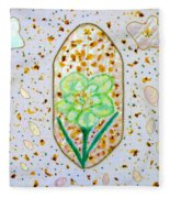 Narcissus Flower Petals Fleece Blanket