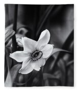Narcissus In The Shadows Fleece Blanket