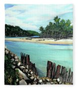 Nariva River And Cocos Bay Fleece Blanket