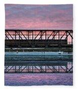 Narooma Bridge Fleece Blanket