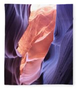 Narrow Canyon Xii Fleece Blanket