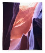 Narrow Canyon Xvi - Antelope Canyon Fleece Blanket