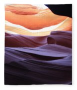 Narrow Canyon Xviii Fleece Blanket