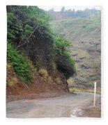 Narrow Road - North Maui Fleece Blanket