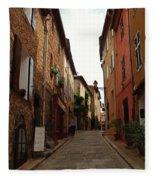 Narrow Street In Provence Fleece Blanket