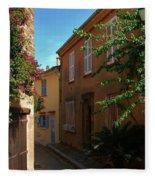 Narrow Street In The Village Fleece Blanket