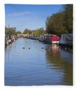 Narrowboats Fleece Blanket