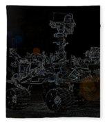 Nasa Vehicle System Vstb Rover On The Dark Side Fleece Blanket