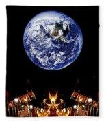 Nasa Company Picnic Fleece Blanket