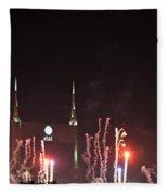 Nashville Fireworks 2014 Close Up Fleece Blanket