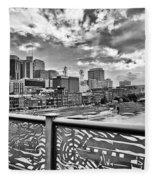 Nashville From The Shelby Bridge Fleece Blanket