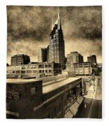 Nashville Grunge Fleece Blanket