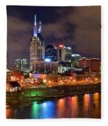 Nashville Is A Colorful Town Fleece Blanket