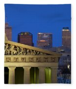 Nashville Parthenon Fleece Blanket