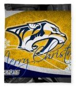Nashville Predators Christmas Fleece Blanket