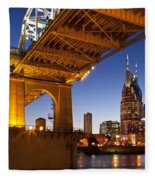 Nashville Tennessee Fleece Blanket