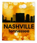Nashville Tn 3 Fleece Blanket