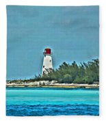 Nassau Bahama Lighthouse Fleece Blanket