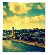 Nassau The Bahamas Fleece Blanket
