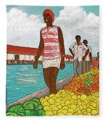 Nassau Woman Fleece Blanket