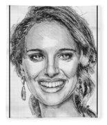 Natalie Portman In 2011 Fleece Blanket