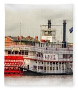 Natchez Sternwheeler Paint Fleece Blanket