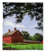 Nathan Hale Homestead Coventry Connecticut Fleece Blanket