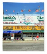 Nathan's Coney Island Fleece Blanket