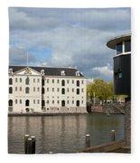 National Maritime Museum In Amsterdam Fleece Blanket