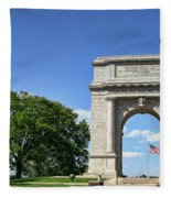 National Memorial Arch At Valley Forge Fleece Blanket