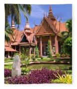 National Museum In Phnom Penh Fleece Blanket