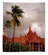National Museum Of Cambodia Fleece Blanket