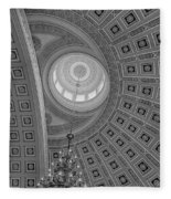 National Statuary Rotunda Bw Fleece Blanket