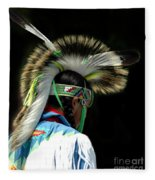 Native American Boy Fleece Blanket
