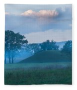 Native American Burial Ground Fleece Blanket