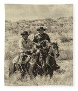 Native American Cowboys Fleece Blanket