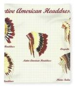 Native American Headdresses Number 4 Fleece Blanket
