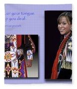 Native American Proverb Fleece Blanket