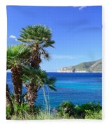Native Fan Palms In Sant Elm Fleece Blanket