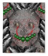 Native Indian Skull Art Fleece Blanket