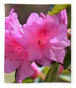 Native Roseshell Azalea Fleece Blanket