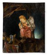 Nativity Angel  Fleece Blanket