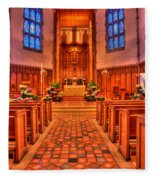 Nativity Of Our Lord Church Fleece Blanket
